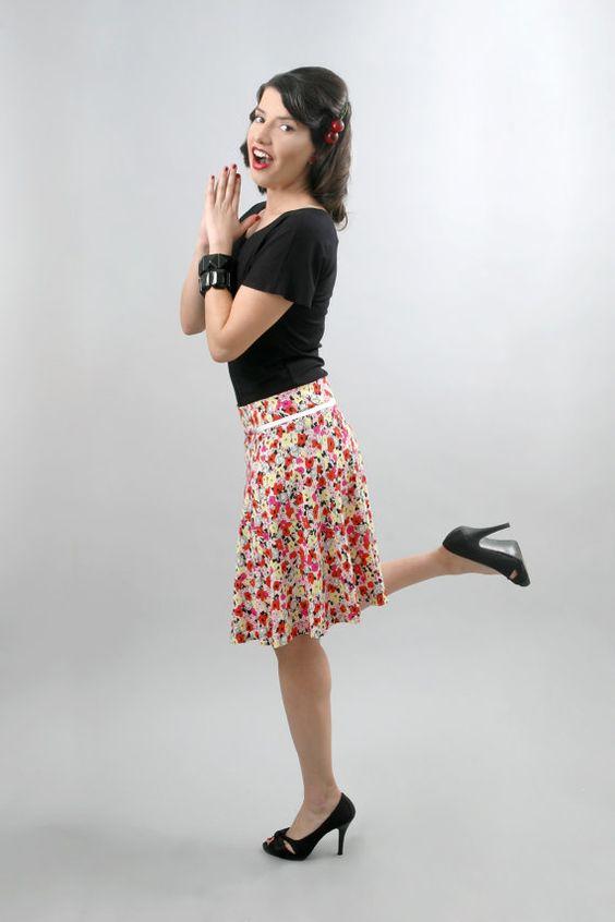 floral printed, romantic skirt by @Tamarlandau on etsy