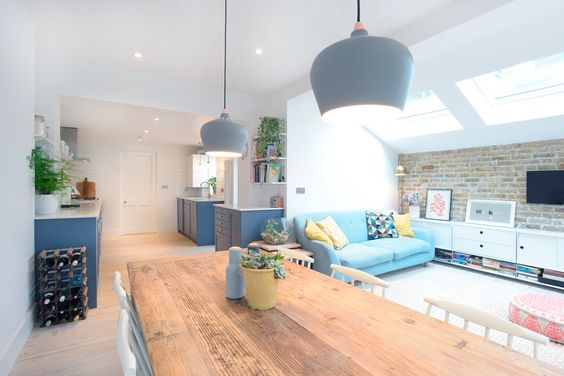 Stroud Green, N5, London, Side Return Extension, Kitchen Extension, Ground Floor Flat Extension, Bi-Fold Doors, Kitchen, Rear Extension, Roof-lights, Pitched Roof, Side Return Ideas, Kitchen Extension Ideas, Dining Area Ideas, Living Area Ideas, Open Plan Living