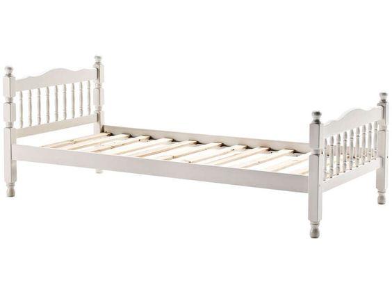 Lit 90x190 cm blanc TAURUS coloris blanc - Vente de Lit enfant - Conforama