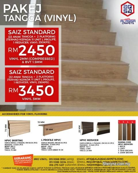 Other For Sale Rm2 450 In Klang Selangor Malaysia Staircase Vinyl Will Change The Style Of Your Stairs Tang Cheap Vinyl Hallway Carpet Runners Carpet Sale