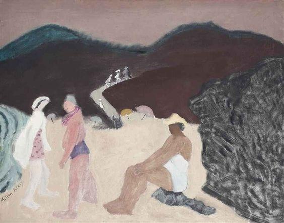 Milton Avery (American, 1885-1965), California Beach, 1942. Oil on canvas, 28 x 36 in. (71.1 x 91.4 cm.)
