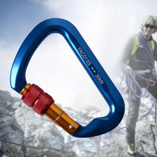 Heavy Duty 30KN D Carabiner Hook Rock Climbing Tree Arborist Rappel Rescue