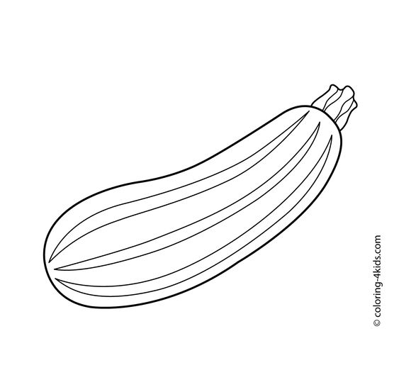 Zucchini vegetable Coloring pages