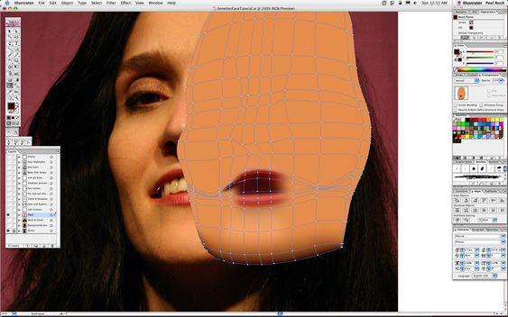 Adobe Illustrator Gradient Mesh Portrait Tutorial