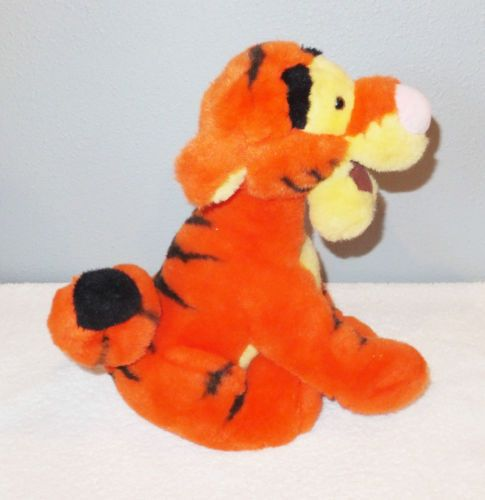 "12"" TIGGER Disney Store Plush Stuffed Animal Curly Tail Winnie The Pooh & Friend"
