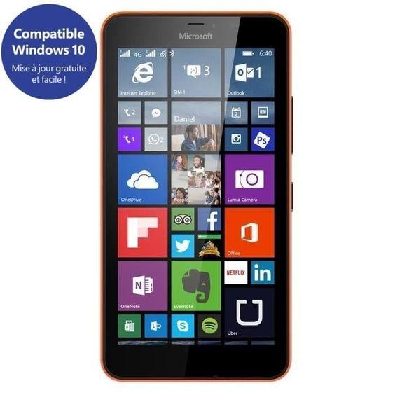 Smartphone 4G LTE Microsoft Lumia 640 XL - Débloqué (Écran : 5,7 pouces - 8 Go…