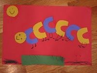 I like this C Caterpillar...you could always use squares too to fit with our theme for the week!