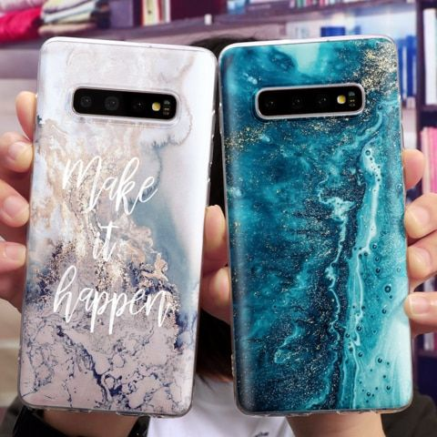 Coque For Samsung Galaxy S10e J5 J6 S6 S7 Edge S8 S9 S10 Plus A5 A7 A8 2018 2017 A40 A70 Note 8 9 Case Silicon In 2021 Phone Essentials Samsung Phone Cases Marble Case