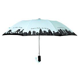 """212 Umbrella by Fish Eddy: Auto open, 42"""" arc, 16""""L closed., 1lb. $29.95"""