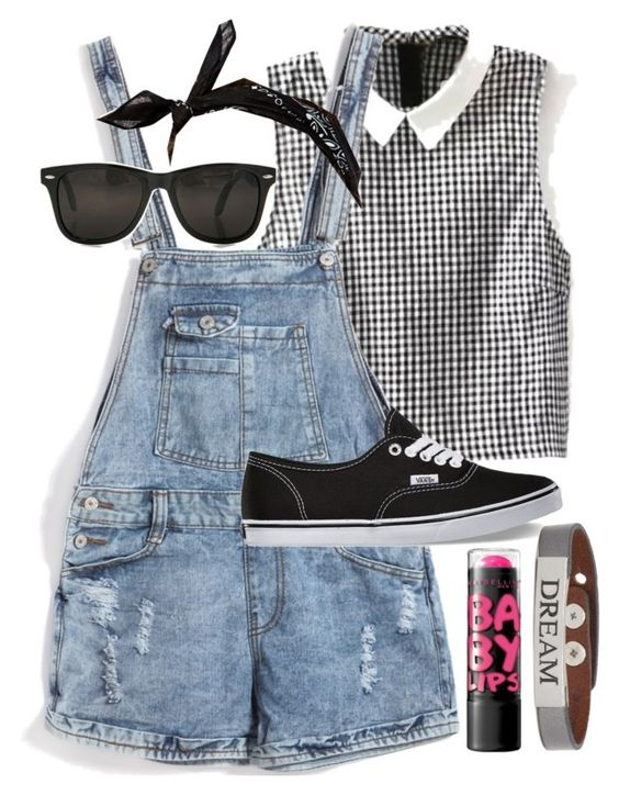"""""""Outfit 55"""" by jessicafm ❤ liked on Polyvore featuring Vans, ASOS, Good Work(s) and Maybelline"""