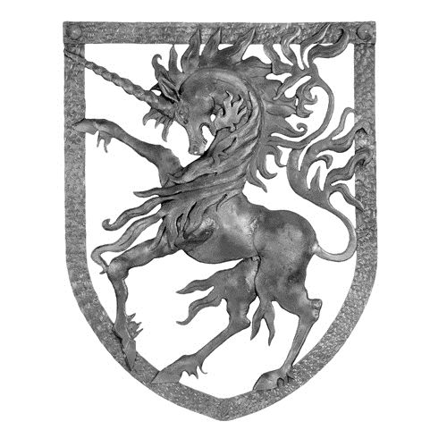 Forged Steel Unicorn Crest