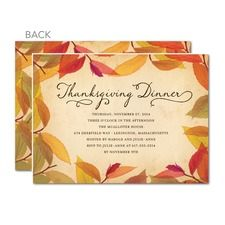 Customize Your Thanksgiving Invitation Cards for All Types of