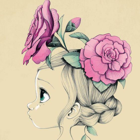 Ce tableau de décoration murale de chambre denfant Wild girl, d