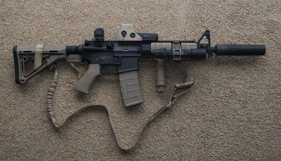 AR-15. Looks just like mine. Overkill...maybe.