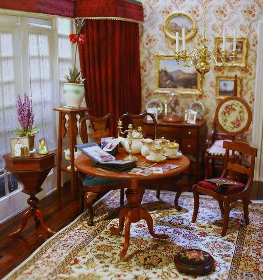Dollhouse Living Room Ideas Dollhouse Dining Room Dollhouse Living Room Dolls House Interiors