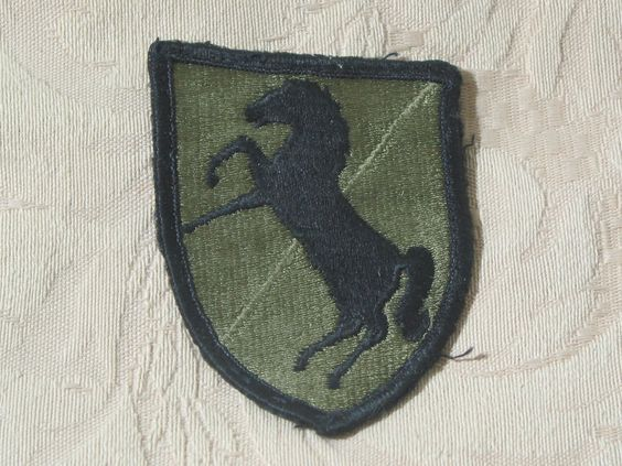 MILITARY SHOULDER PATCH 11th Armored Cavalry Assault Regiment Vietnam 1966 - 72  Junk_621  http://ajunkeeshoppe.blogspot.com/