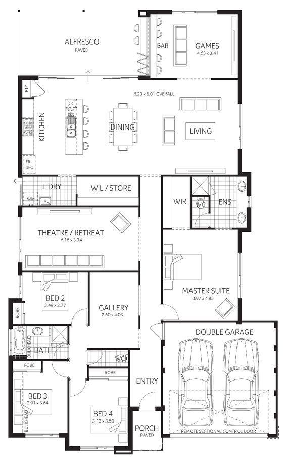 Pin By Hurricane Tyler On Floor Plans Dream House Plans Home Design Floor Plans House Layout Plans