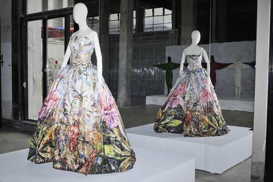Net-a-porter Blends Art With Fashion: Vik Muniz's Peau d'Ane Gown [Photo by Pascal Therme]
