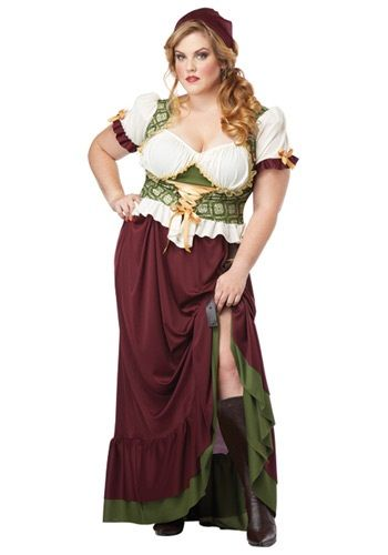 Make all the guys in the local tavern swoon in this Plus Size Renaissance Wench Costume. This costume works at a medieval or pirate party!
