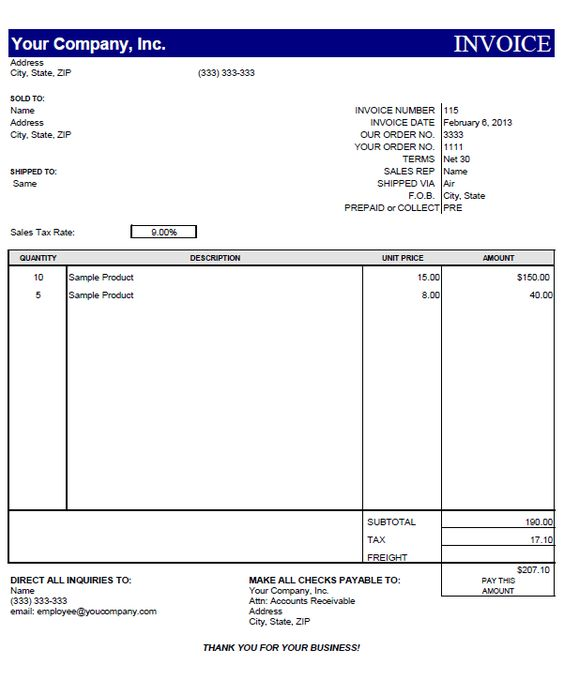 Free Excel Invoice Templates Expenses Invoice Free Excel Invoices