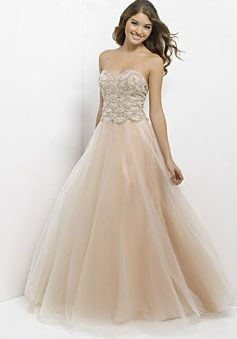 tulle ball gown sweetheart long natural waist prom dress