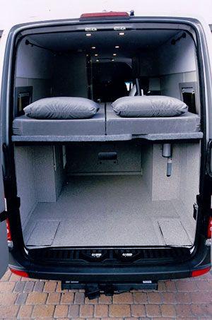 Sportsmobile Custom Camper Vans - Bunks & Platform Beds
