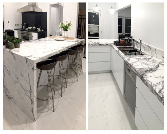 New York marble used for bench tops Made by Marable Slab House in - bulthaup küchen münchen