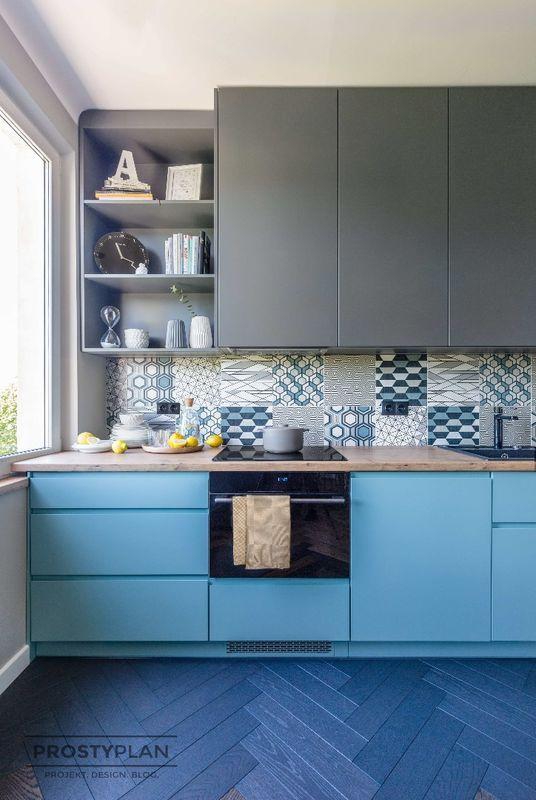 Niebieska Kuchnia Kitchen Kitchen Design Home Decor