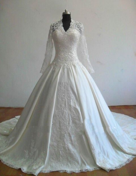 The Cheapest New Real Sample Long Sleeve Muslim Wedding Dresses From The Most Popular Directsale Factory