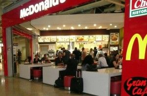 McDonalds in the Rome airport