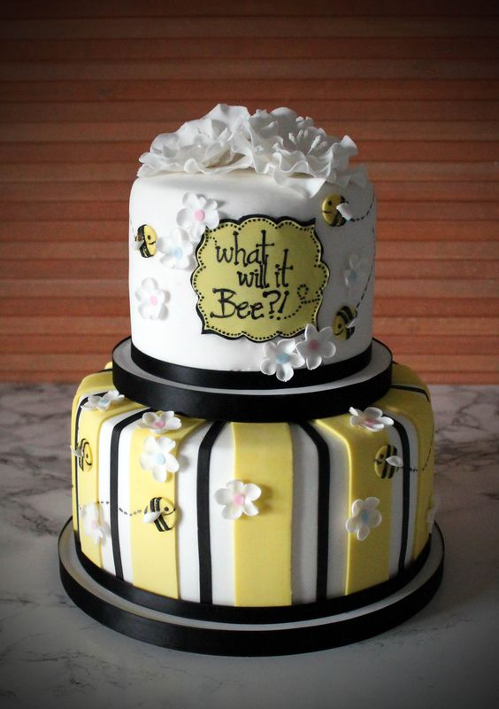 What Will It Bee Baby Shower Cake Sweetlittlebites Carolyn Miller