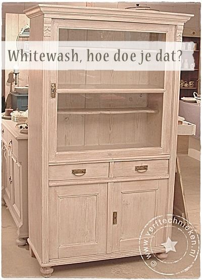 Magnifiek Meubels Laten Whitewashen. Trendy Affordable Kale Oude Meubels &VC83