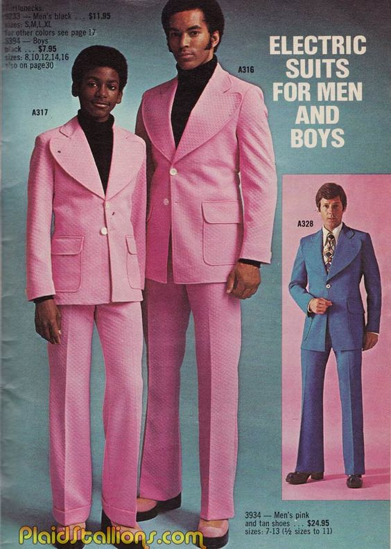 Plaid Stallions : Rambling and Reflections on '70s pop culture: fashion mockery As if one pink suit isn't enough....