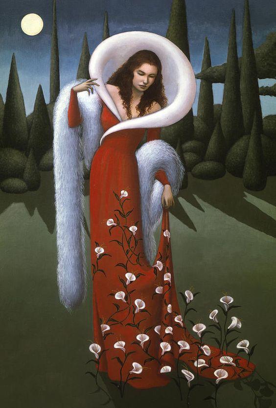 Jane Whiting Chrzanoska (b.1948) — Lady Lily,  2010 (608x900)