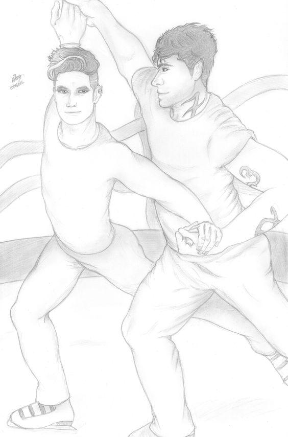 Magnus Bane and Alec Lightwood Figure Skating