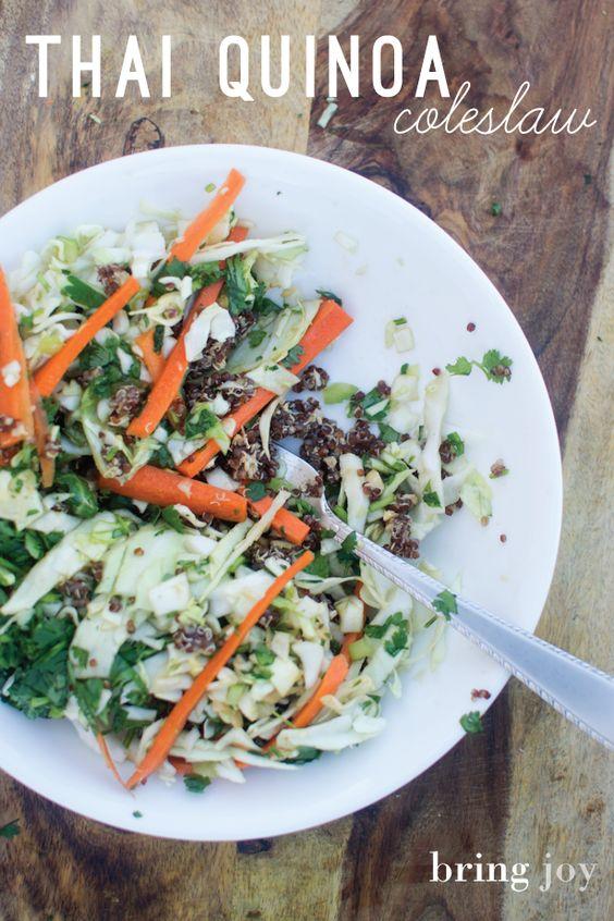 quick & easy thai quinoa coleslaw | vegan + gluten-free | bring joy