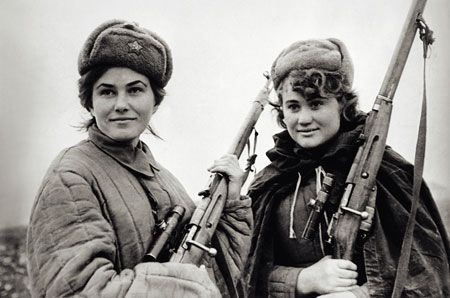 Soviet female snipers during WWII