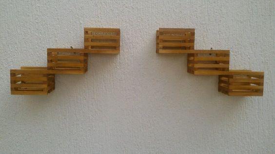 floreira vertical par violeteira madeira maçica c/ cachepot