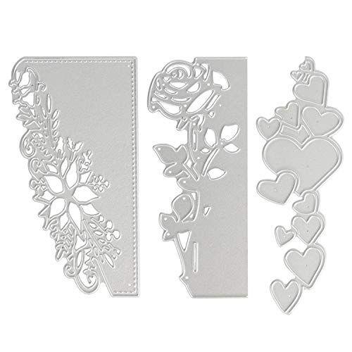 Maserfaliw Cutting Dies Stencils Flower Border Edge Metal DIY Scrapbooking Album Paper Cards