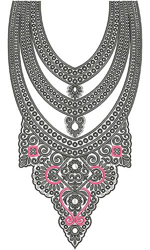 Salwar Kameez Embroidery Neck Design: