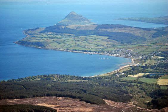 Brodick Bay, Arran from Goat Fell summit