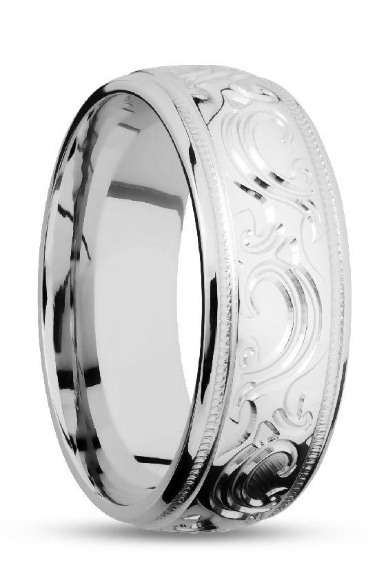 Laser Carved Details In Cobalt Chrome Engraved Rings For Men