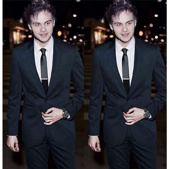 Imgs For > Michael Clifford In A Suit liked on Polyvore ...