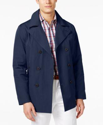 MICHAEL KORS Michael Michael Kors Men'S Cameron Double-Breasted Raincoat. #michaelkors #cloth # coats