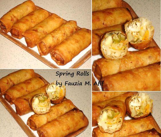 Chicken Spring Rolls Fauzia 39 S Kitchen Fun Global Iftar Pinterest