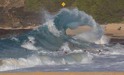 Let the summer games begin! Sandy Beach, Hawaii