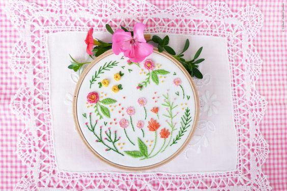 Embroidery kit, Christmas gift idea - Happy Garden - christmas gift for coworker, Embroidery Hoop Art, Diy Kit, Tamar Nahir by TamarNahirYanai on Etsy