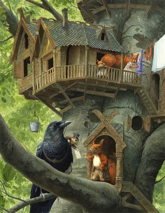 'Air Mail Delivery' watercolour and gouache. Chris Dunn illustrations: