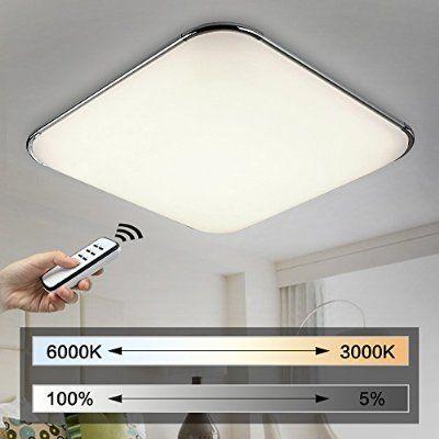 natsen® moderne led deckenlampe wohnzimmer lampe i503y-50w voll ... - Moderne Wohnzimmerlampe
