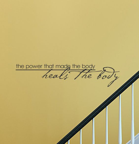 SlapArt The power that made the body heals by VinylMasterpieces, $15.99